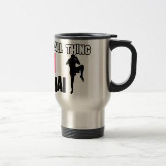 muay thai mrtial design travel mug