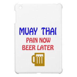 Muay Thai pain now beer later iPad Mini Case