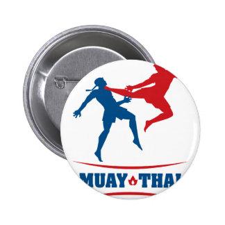 Muay Thai Pinback Button