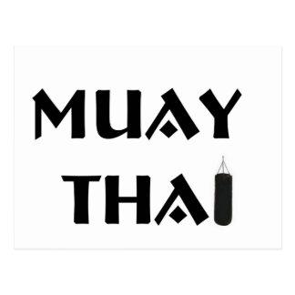 Muay Thai Postcard