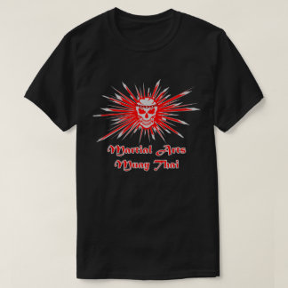 Muay Thai Skull, Kick Boxing and Martial Arts T-Shirt