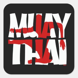 Muay Thai Square Sticker