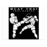 muay thai tarjeta postal