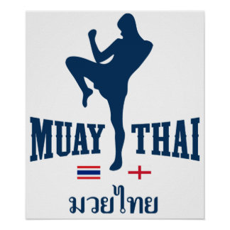 Muay Thai Thailand England Poster