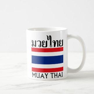 Muay Thai + Thailand Flag Classic White Coffee Mug