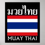 Muay Thai + Thailand Flag Posters