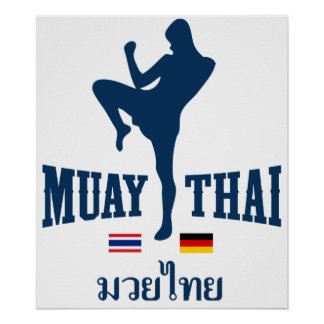 Muay Thai Thailand Germany Poster