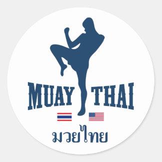 Muay Thai Thailand USA Stickers