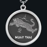"MUAY THAI TIGER necklace<br><div class=""desc"">MUAY THAI TIGER necklace,  with an original thai mantra design.  Dedicated to real muay thai addicts!</div>"