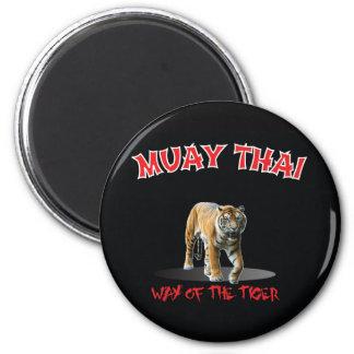 Muay Thai Way of The Tiger Magnet Black