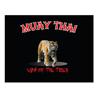 Muay Thai Way of The Tiger Postcard Black