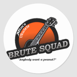 MUBS Orange Classic Round Sticker