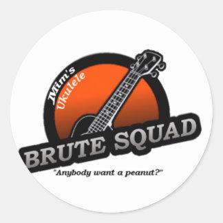 MUBS Orange Round Sticker