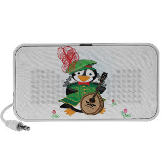 Much Ado About Penguins Doodle iPhone Speaker