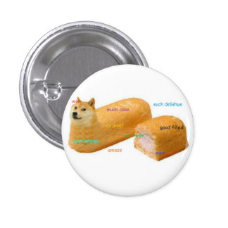 Much Cake DogeButton Pin