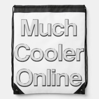 Much Cooler Online Glass Drawstring Bag