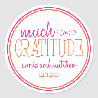 Much Gratitude Labels (Hot Pink / Orange)