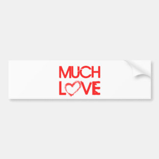 MUCH LOVE GRAFFITI HEART SHOUTOUT EXPRESSIONS BUMPER STICKER