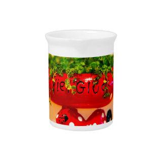 Much luck flower pot drink pitcher