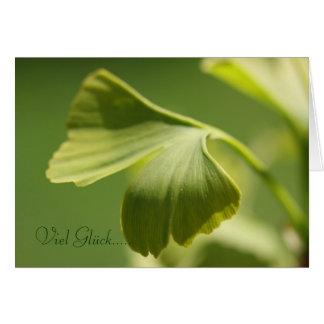 Much luck - ginkgo sheet greeting card