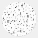 Much Music Round Stickers