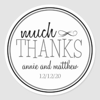 Much Thanks Labels (Black / Gray)