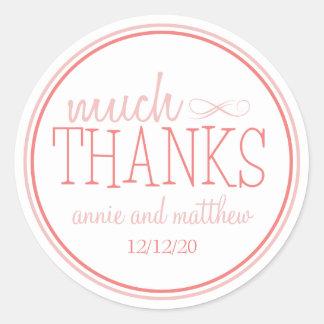 Much Thanks Labels (Blush / Terra Cotta)