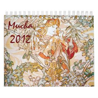 Mucha 2012 calendarios de pared