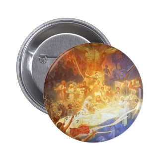 Mucha - Apotheosis of the Slavs Pinback Button