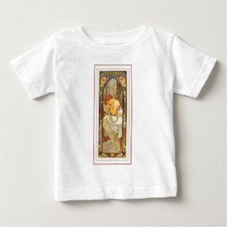 Mucha art deco poster lady female long dress t-shirt