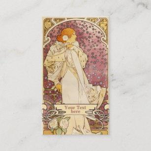 Art nouveau business cards templates zazzle mucha art nouveau art deco business cards colourmoves