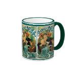 Mucha Art Nouveau:  Bieres de la Meuse Ringer Coffee Mug
