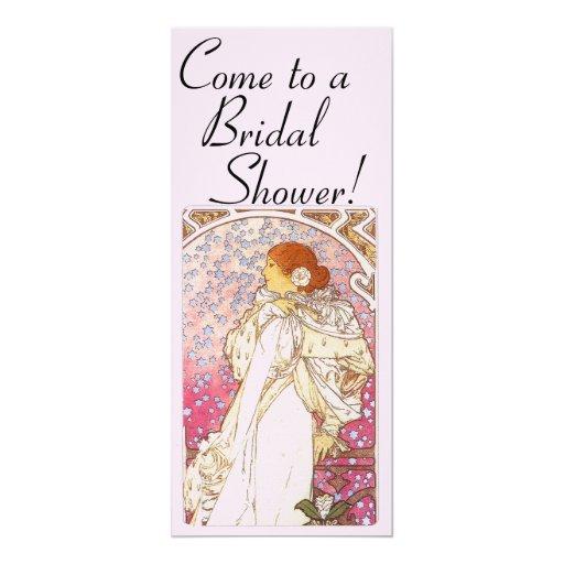 Mucha Art Nouveau Bridal Shower Invitation