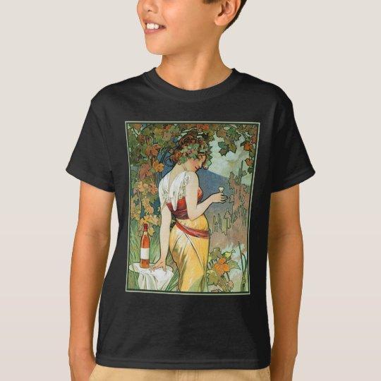 Mucha - Art Nouveau - Cognac T-Shirt