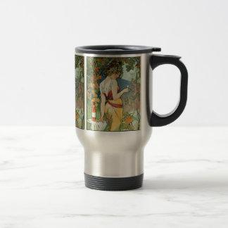 Mucha - Art Nouveau - Cognac Travel Mug