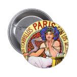 Mucha Art Nouveau Illustration 2 Inch Round Button