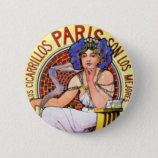 Mucha Art Nouveau Illustration Pinback Button
