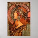 Mucha Art Nouveau Ladies Soap Poster