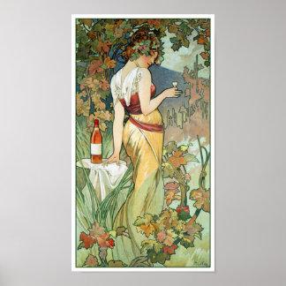 Mucha Art Nouveau Poster: Cognac Poster