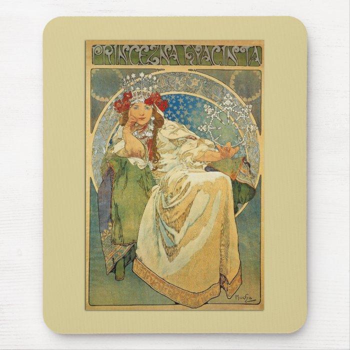 Mucha Art Nouveau Princess Mousepad