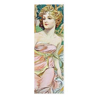 Mucha Art Nouveau Skinny Business Card