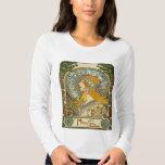 Mucha Art Nouveau T-Shirt -  Zodiac  - La Plume