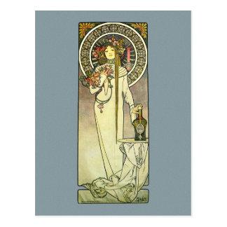 Mucha Art Nouveau Trappistine Postcard