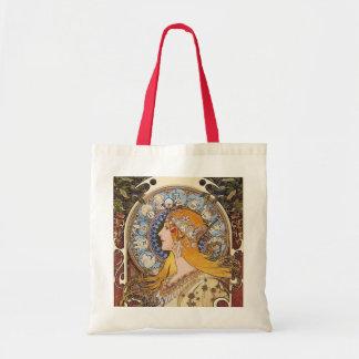 Mucha -  Art Nouveau- Zodiac - La Plume Canvas Bags