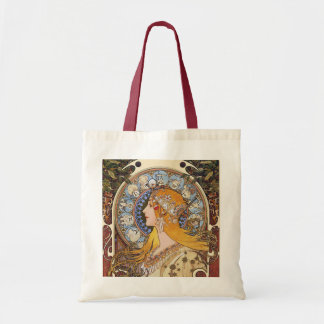 Mucha -  Art Nouveau- Zodiac - La Plume Tote Bag