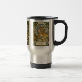 Mucha Art Nouveau -  Zodiac  - La Plume Travel Mug