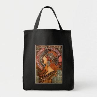 Mucha - arte Nouveau Bolsas Lienzo