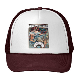 mucha biscuits Lefevre utile 1897 advertisement Trucker Hat