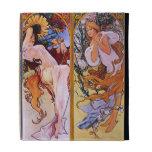 Mucha caja del folio del iPad del arte del vintage
