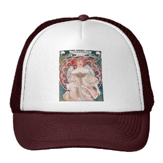 Mucha Champenois paris pink dress lady art deco Trucker Hat